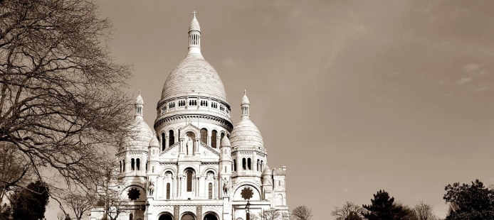 photo du sacré coeur à paris montmartre