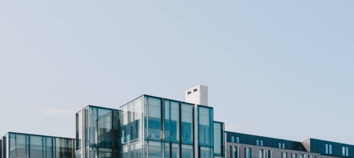 vue sur des immeubles moderne