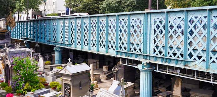 Photo cimetière sous le pont Caulaincourt Paris 18