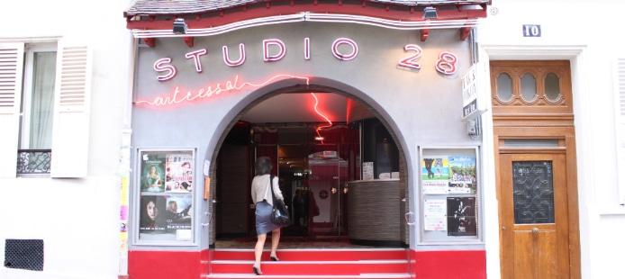 Devanture du Studio 28 dans le 18ème arr. de Paris