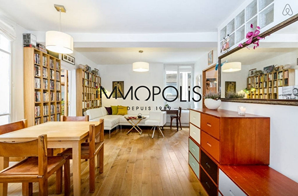 In the heart of the Abbesses, magnificent, ultra-optimized 4-room apartment, with a large living room of 28.43 M², very quiet: to visit urgently! 2