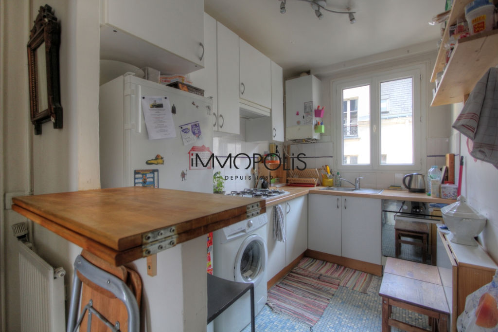 Exclusivity: beautiful 3 room apartment with a perfect plan, clear and calm, of 55.21 M² with little opposite! 3