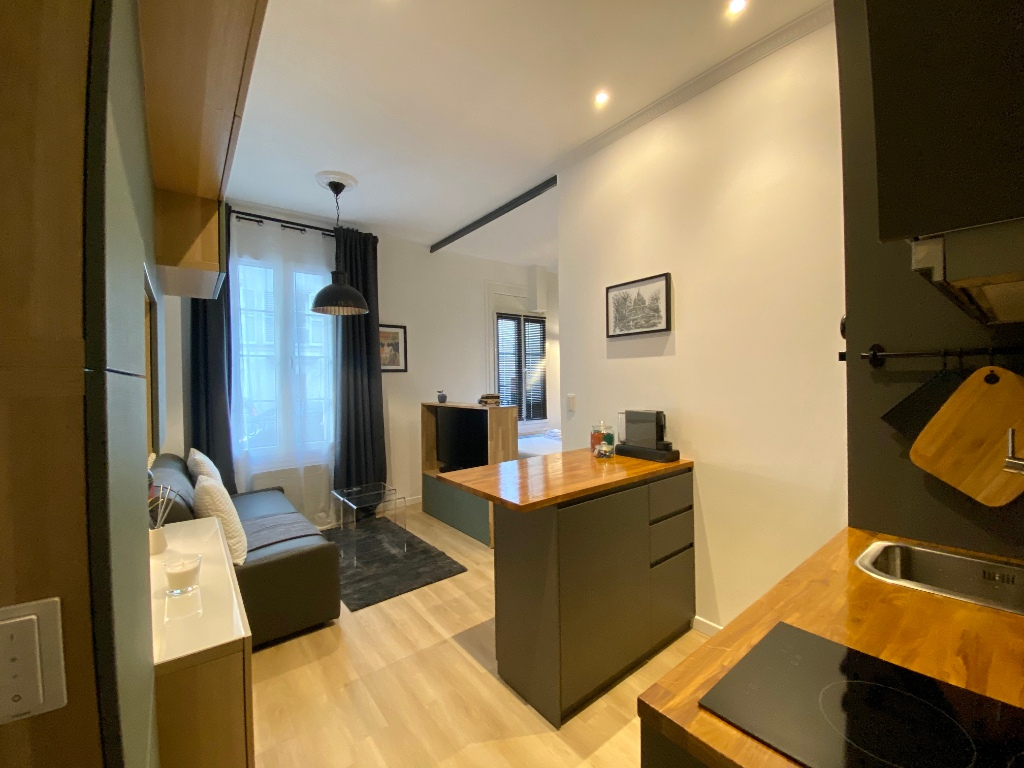 Near Sacré Coeur / Rue Muller: Modern apartment type F2, perfect condition, sold furnished 1