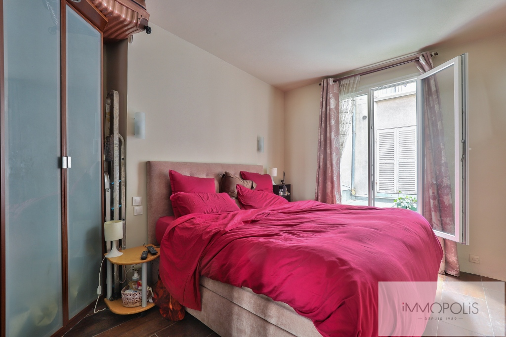 2 room apartment, double living room, rue Lepic, Abbesses district 5