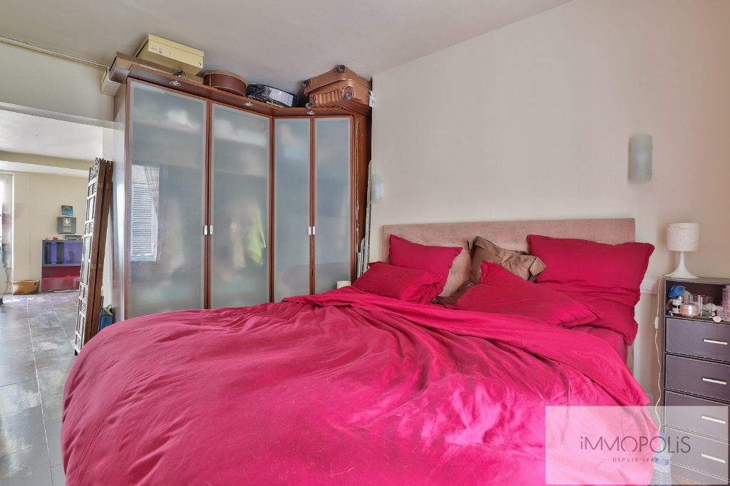 2 room apartment, double living room, rue Lepic, Abbesses district 6
