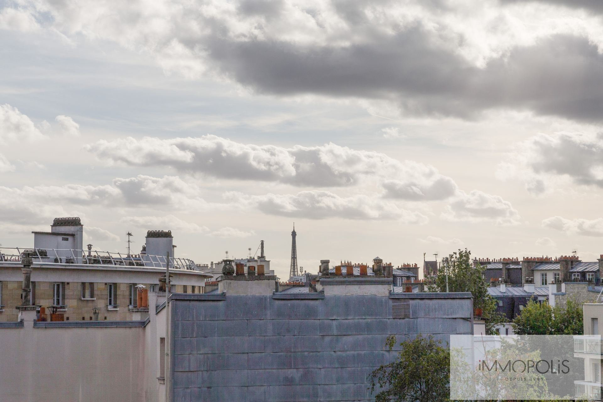 4 pièces avec balcon terrasse et vue dégagée sur jardins et la Tour Eiffel : vendu occupé par usufruitière de 90 ans 4
