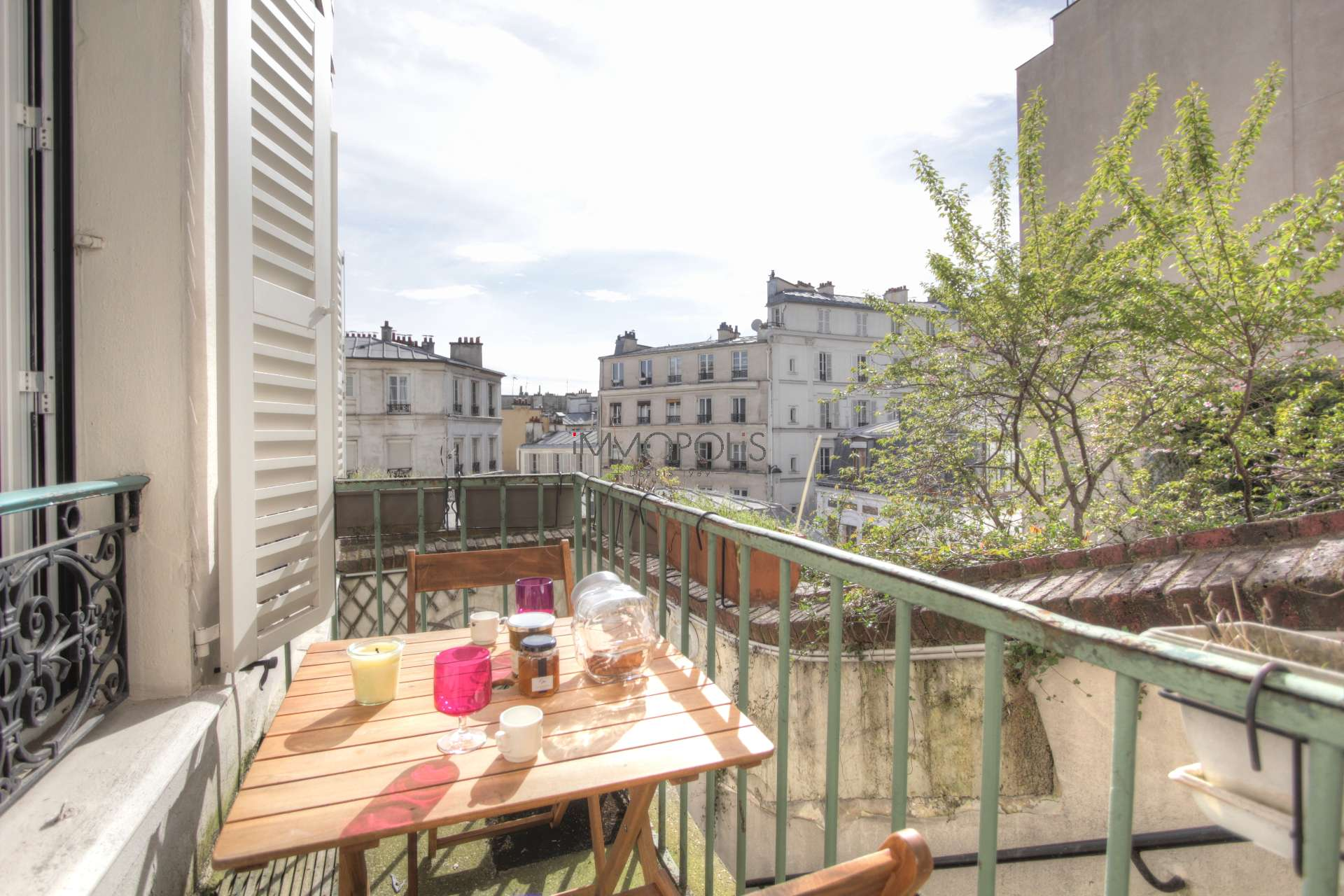 Exceptional in Montmartre (rue Gabrielle): refurbished open space, sumptuous services, with balcony and open view! 1