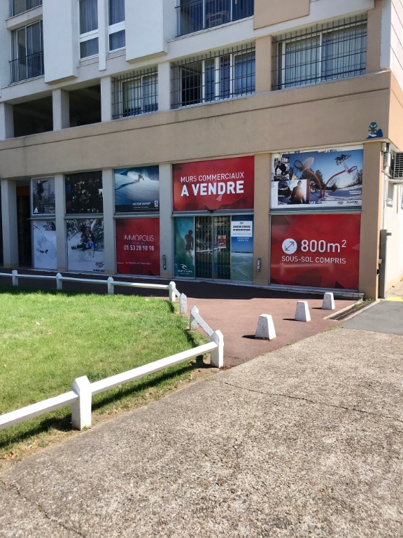 Foot of building, commercial walls in Ivry-sur-Seine (approximately 800m²) 1