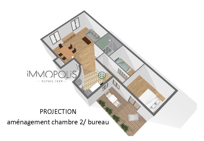 Cimetière Montmartre Beau 3 pièces 2 chambres de 61 m² rénové 7