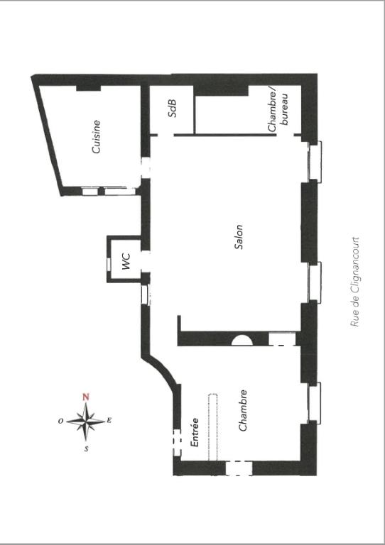Appartement 75018 3 pièce(s) 52 m² «VILLAGE RAMEY» DERNIER ETAGE 8