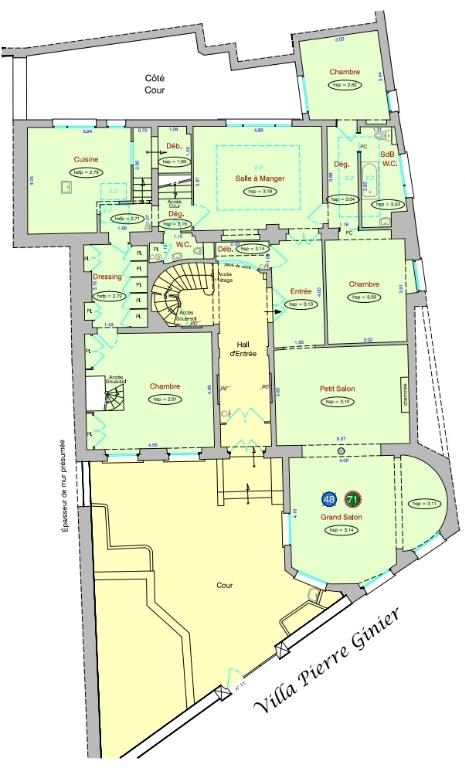 Appartement familial de 218.45 m2 – 4 chambres – 1 terrasse – 1 place de parking 16