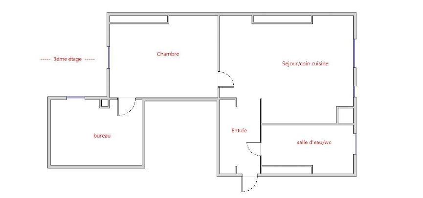 3 room apartment Rue Marcadet – PARIS XVIIIth 9