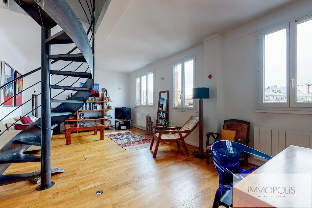 Clichy DUPLEX 124m² floor area – 82m² Carrez Law 4
