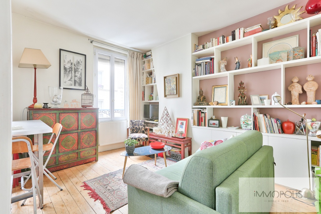 2 rooms 35 m² – large quarries area, Montmartre cemetery 2