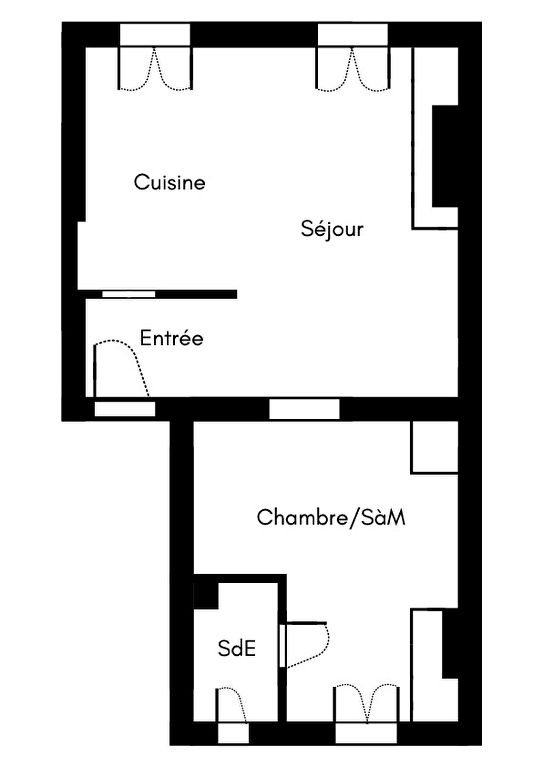 2 rooms 35 m² – large quarries area, Montmartre cemetery 9