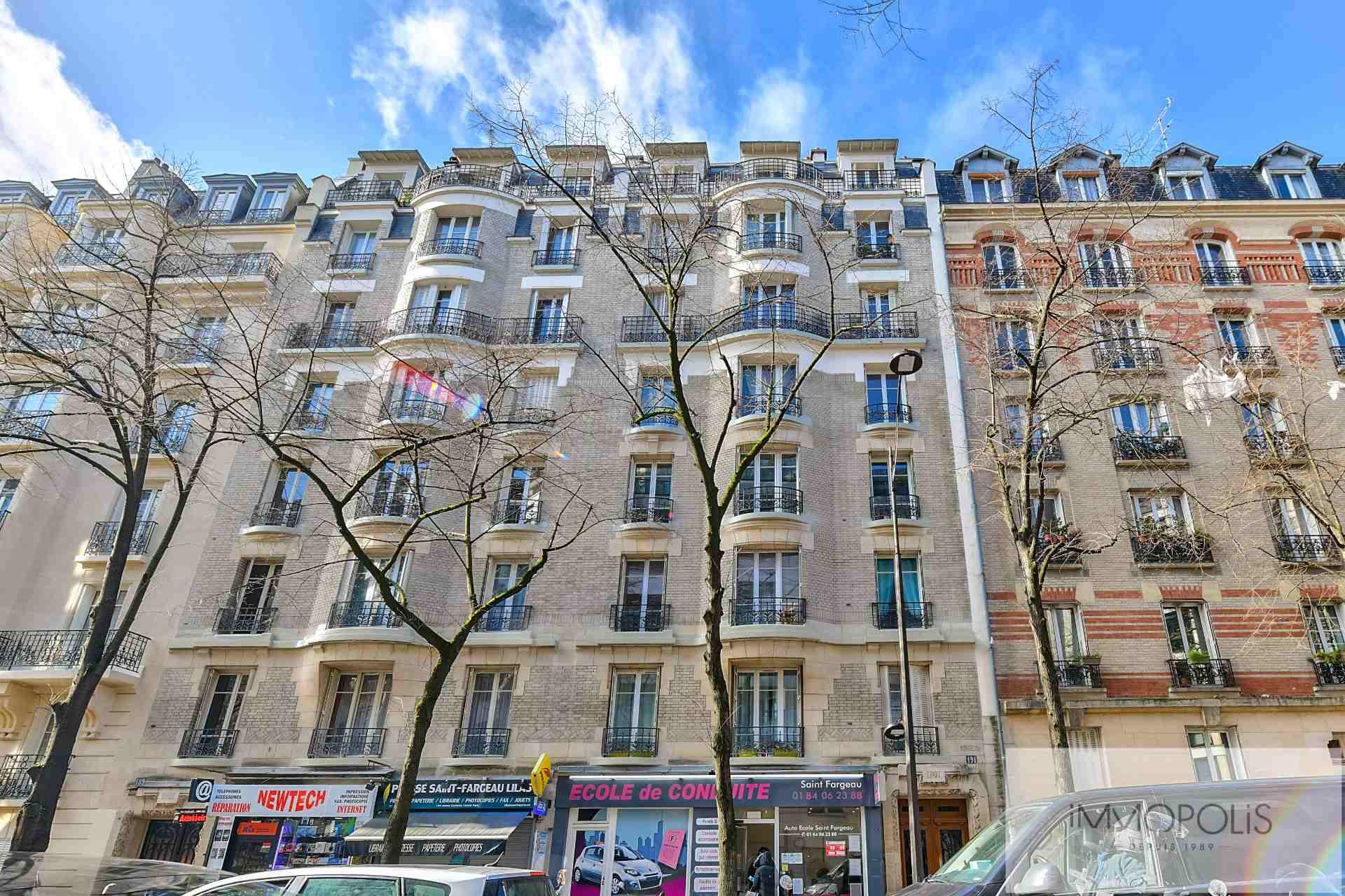 METRO SAINT-FARGEAU: 3 Rooms of 51m², Beautiful classic, Balcony 1