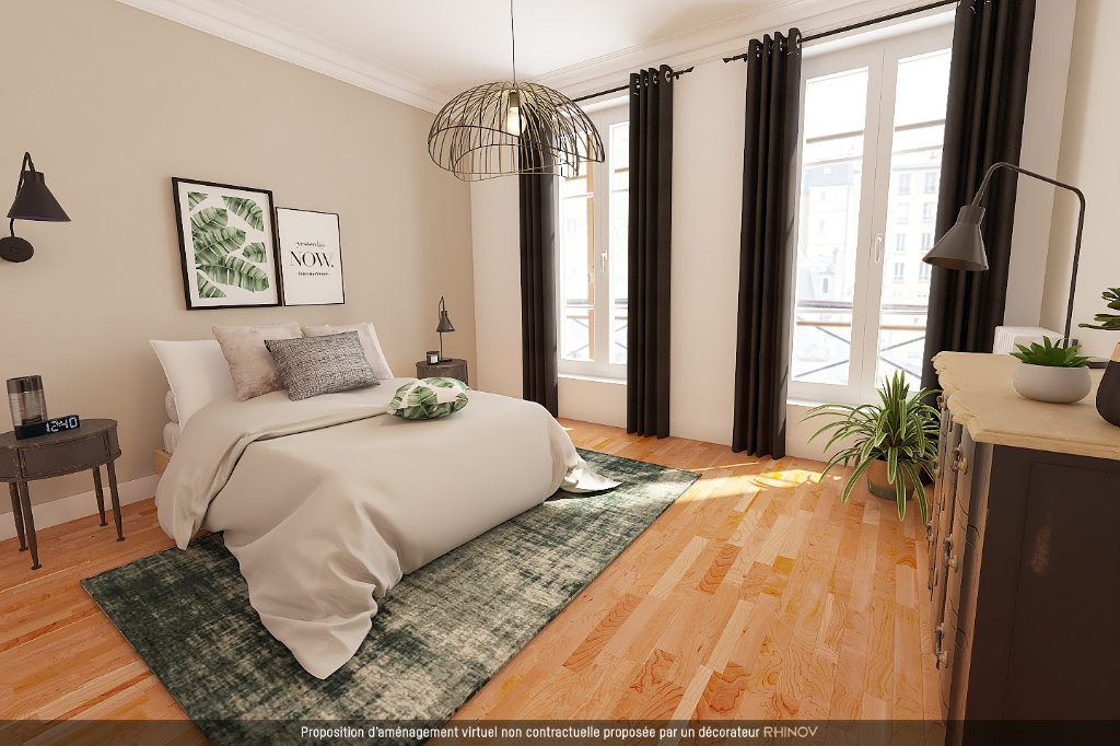 ABBESSES sector – 84M² 4 ROOMS 3 BEDROOMS SOUTH 3rd FLOOR 1