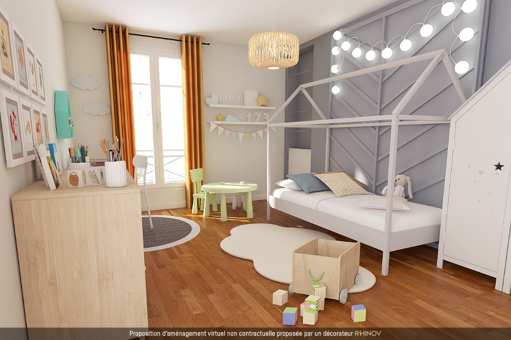 ABBESSES sector – 84M² 4 ROOMS 3 BEDROOMS SOUTH 3rd FLOOR 2