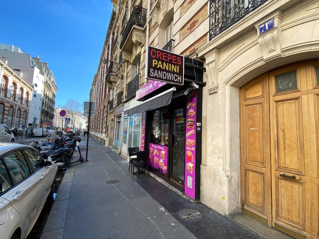 Murs de boutique rue Championnet 1