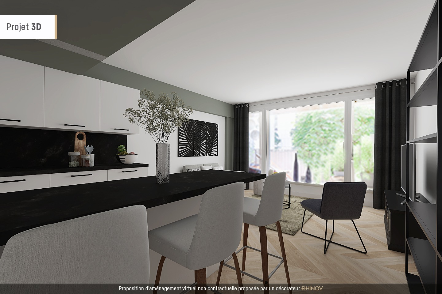Huissiers district (near Pont de Neuilly): beautiful apartment crossing on a very quiet street and on gardens, with two terraces, cellar and parking! 3