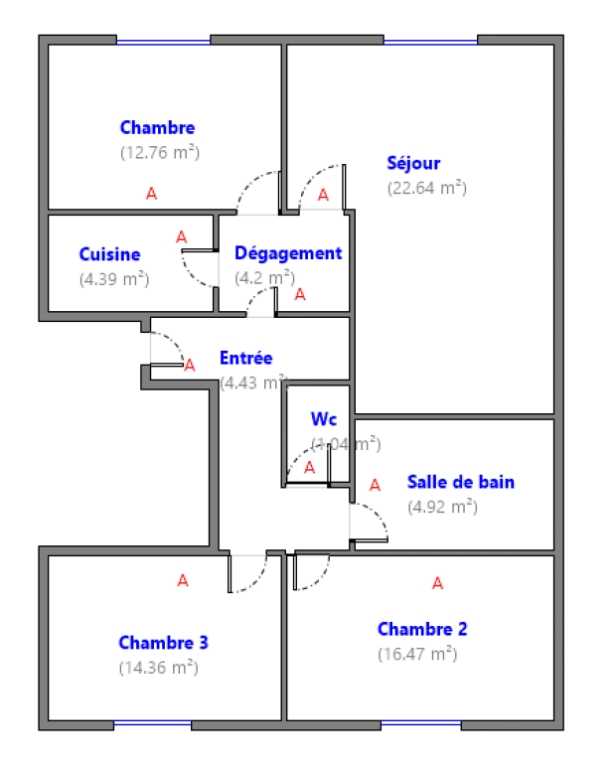 ABBESSES- 4 Rooms of 85M ², LAST FLOOR, 3 South facing bedrooms !!! 8