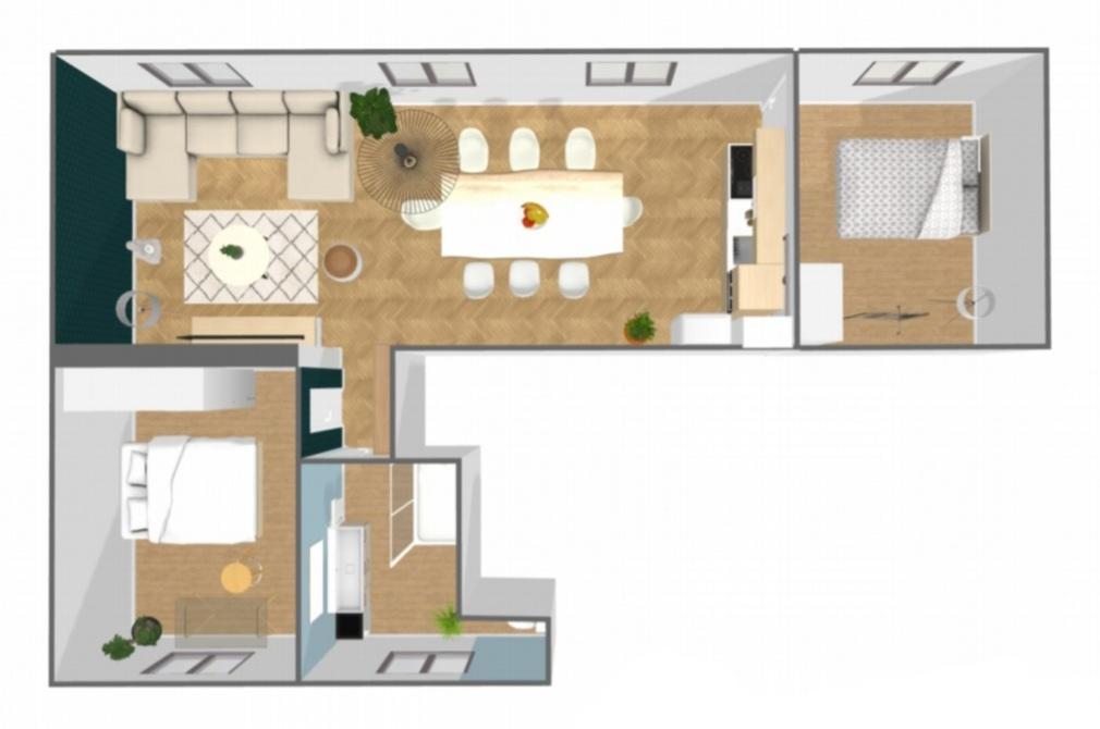 Sector Brochant – 4 rooms 3 bedrooms – 66.5 m² 1