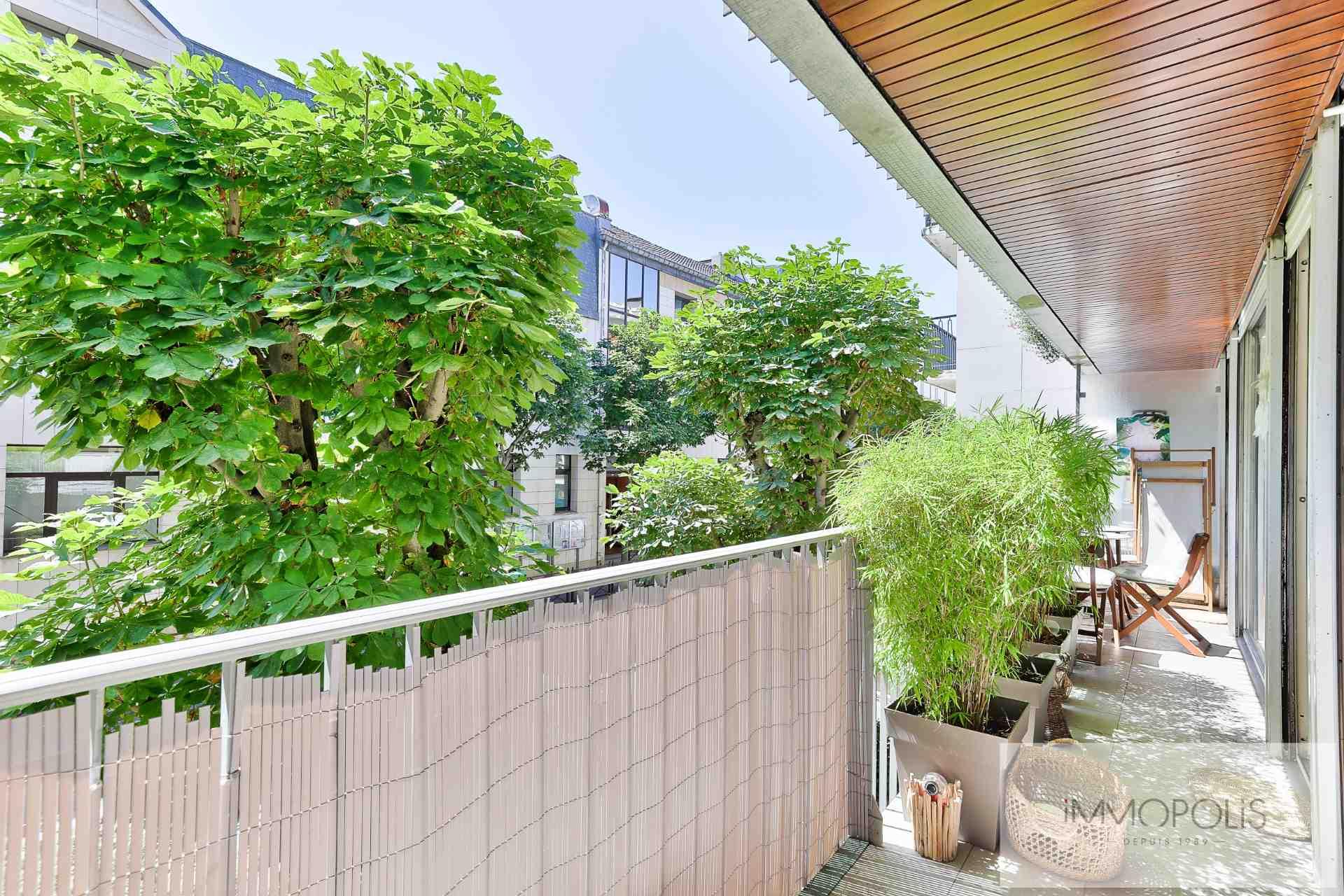 Quartier des Huissiers (proche Pont de Neuilly) : bel appartement traversant sur rue très calme et sur jardins, avec deux terrasses, cave et parking ! 8
