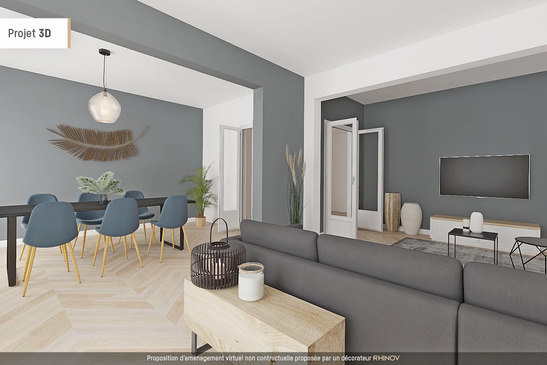 Montmartre, rue Caulaincourt, bel appartement de 76 M² en 2e étage avec ascenseur, beaux volumes ! 3