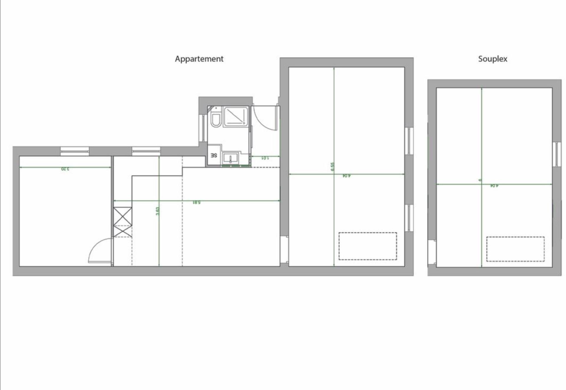 Saint Ouen, district Michelet / Dr. Bauer, in Rue Arboraée Quiet, magnificent souplex «like a house» 9