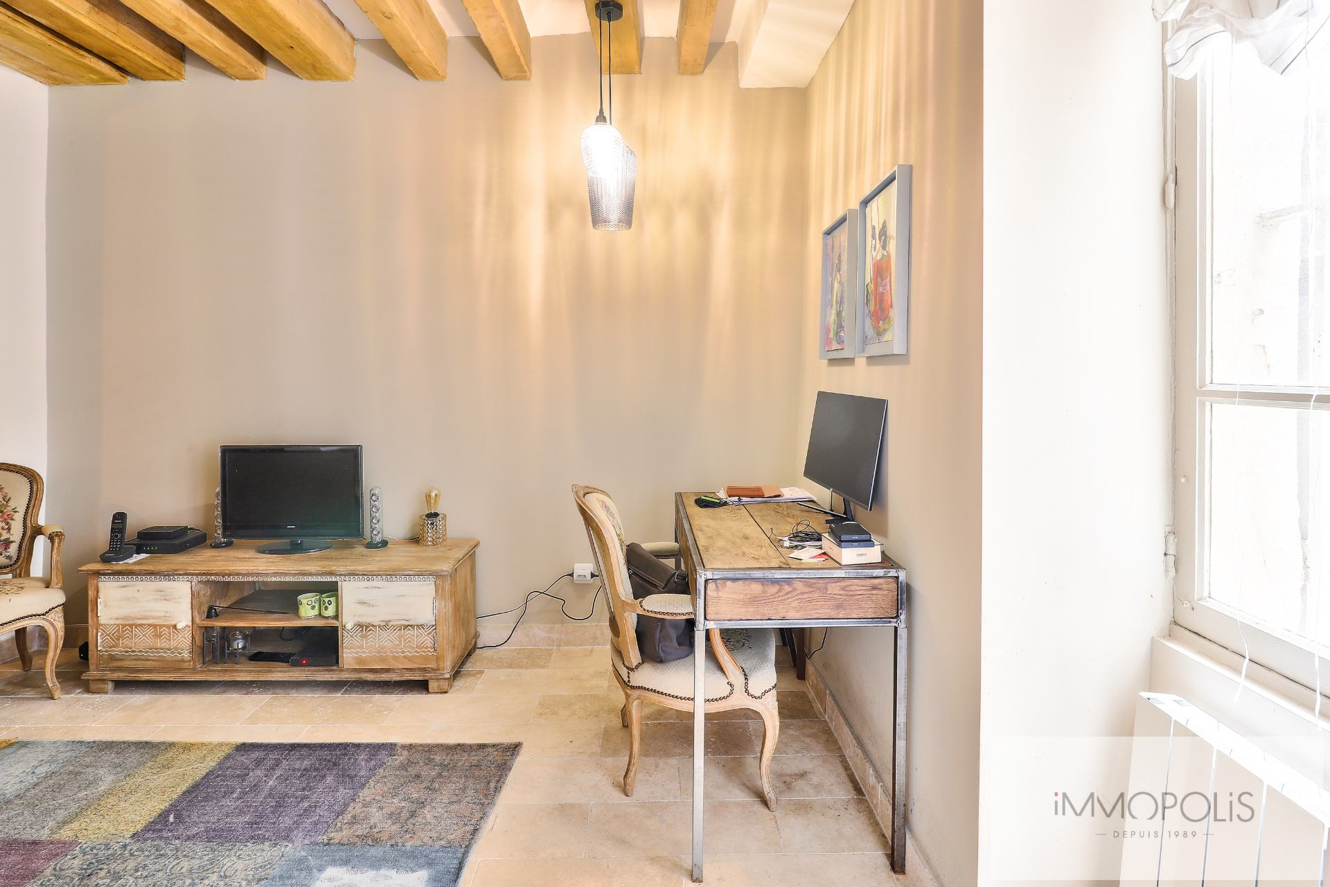 Montmartre, rue Gabrielle, beautiful 2 rooms completely renovated with stones, bricks and exposed beams: like a house! 5